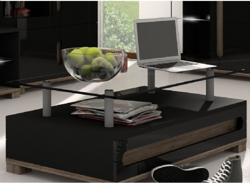 Costa High Gloss Black Coffee Table - 2580